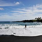 Vulcanic Black Sand Beach by Rosy Kueng Photography