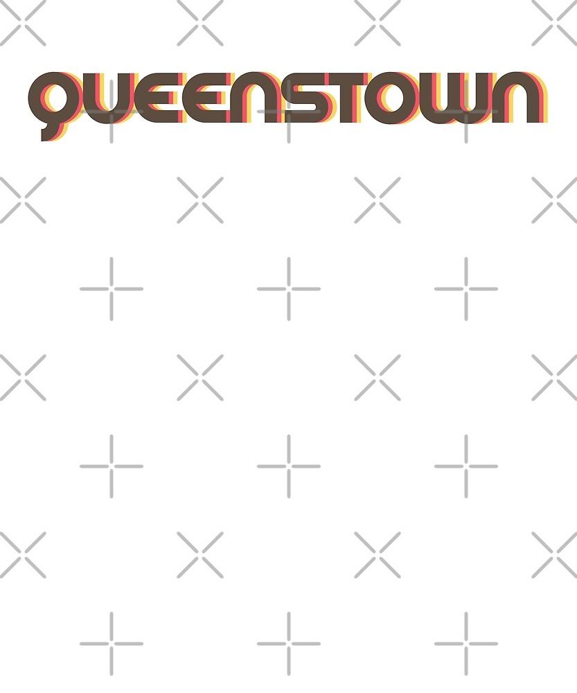 Retro Queenstown T-Shirt by designkitsch
