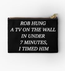Rob Hung A TV On The Wall In Less Than 7 Minutes, I Timed Him - Scheana Shay VPR Vanderpump Rules Rob Studio Pouch