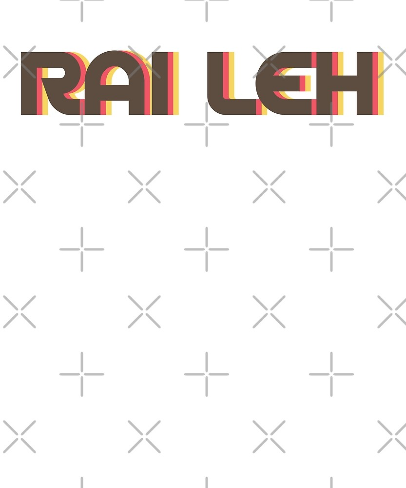 Retro Rai Leh T-Shirt by designkitsch