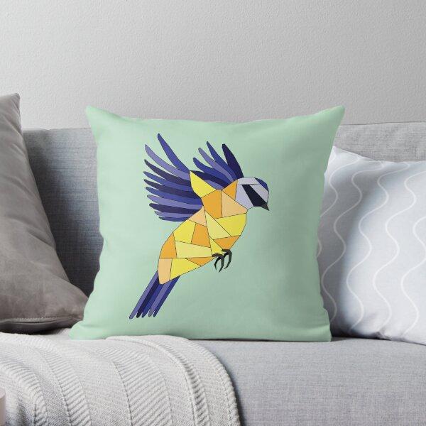 British Birds - Blue Tit Throw Pillow