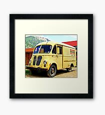 Old Yellow Vintage Delivery Van Framed Print