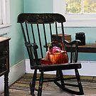 Basket on Yarn on Rocking Chair by Susan Savad