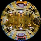 Ceiling of the church Santa Maria Assunta, Paciano, Umbria Italy by Andrew Jones