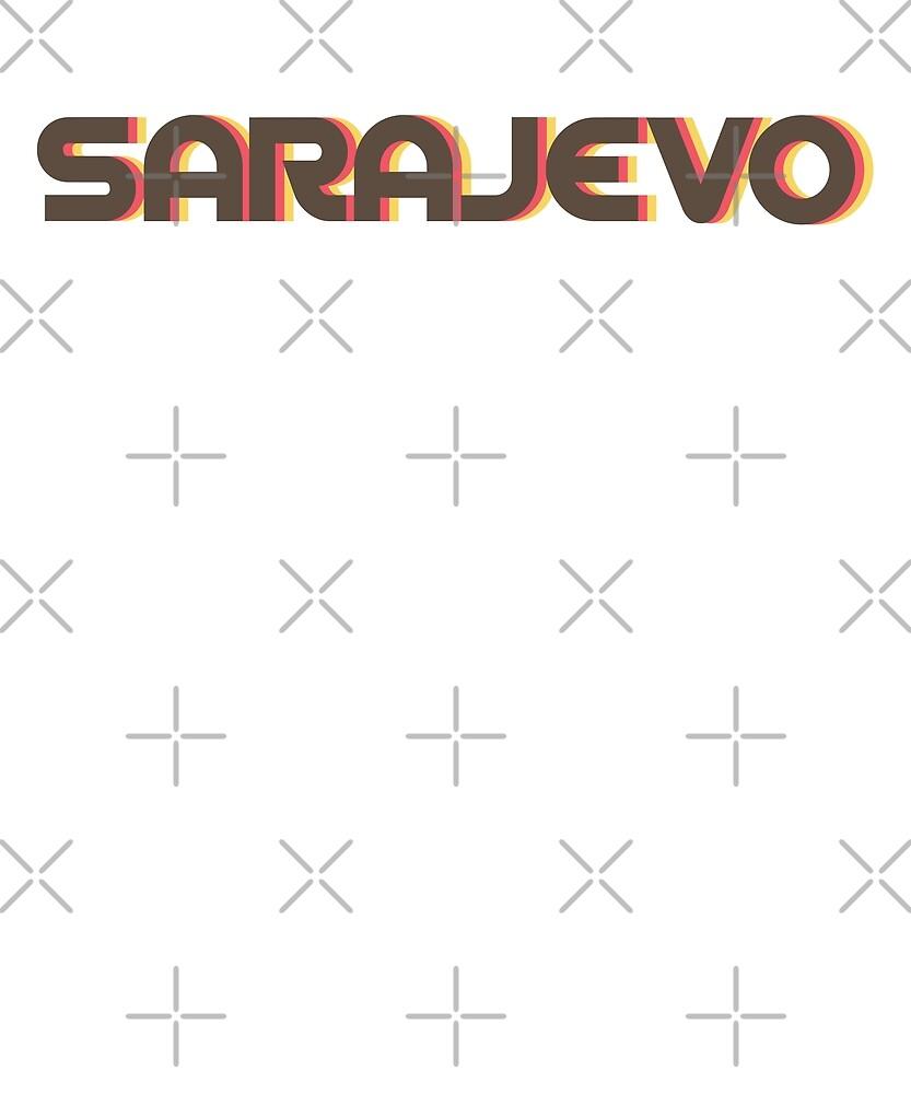 Retro Sarajevo T-Shirt by designkitsch
