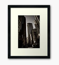 Crosswalk - Financial Square Framed Print
