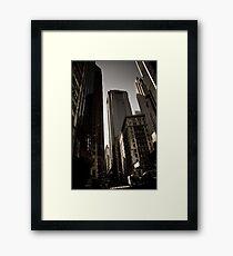 Crosswalk - Financial Square Framed Print