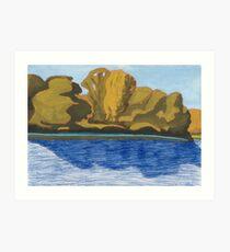 Fishing On The River Koros Art Print