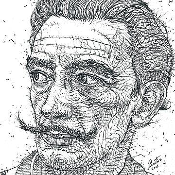 SALVADOR DALI - ink portrait by lautir