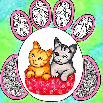 Watercolor Doodle | Cats! by coloringiship