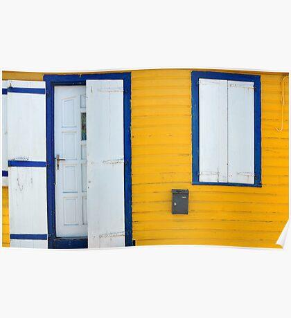 Door, Window, St. Barts Poster
