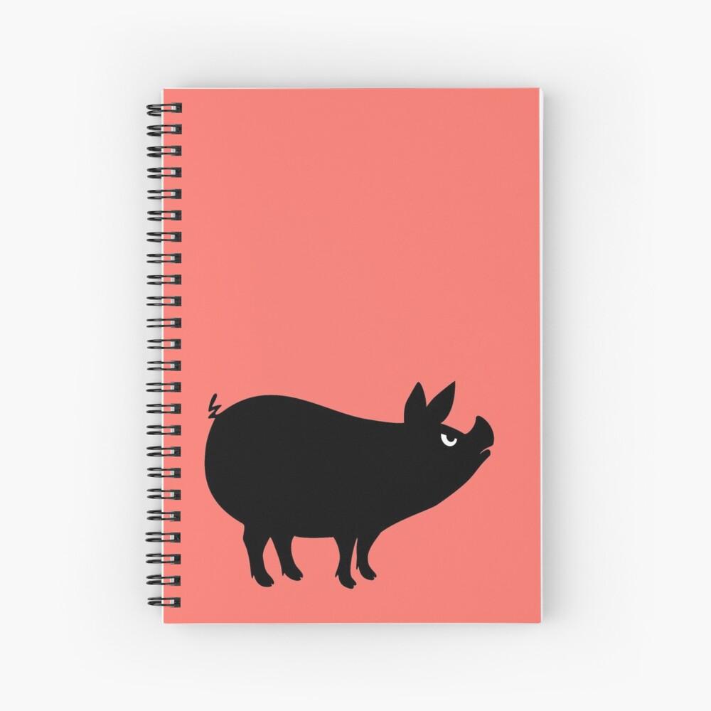 Angry Animals: Piggy Spiral Notebook