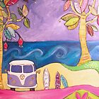 Three Surfboards and a Kombi by Tracy  Moore