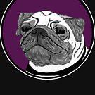 Pug - Purple Spot by emo-seal