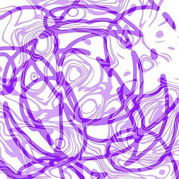 A purple pattern on white by TiiaVissak