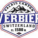 Ski Verbier Switzerland Skiing Valais Canton Matterhorn Mont Blanc by MyHandmadeSigns