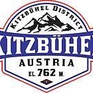 Ski Kitzbühel Austria Skiing by MyHandmadeSigns