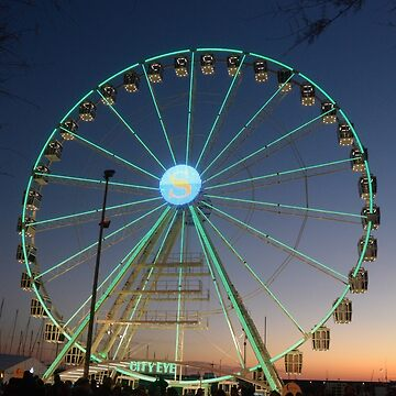 Ferris wheel for the Luci d'Artista 2018, Christmas lights show in Salerno, Italy. by DANGER-ZONE888