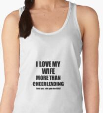 Cheerleading Husband Funny Valentine Gift Idea For My Hubby Lover From Wife Women's Tank Top