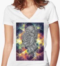 Psychedelic Euphoria Women's Fitted V-Neck T-Shirt