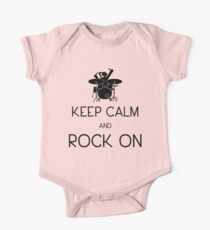 Keep Calm and ROCK ON, Drummer Girl! One Piece - Short Sleeve