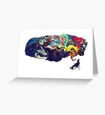 Kreativer Geist Grußkarte