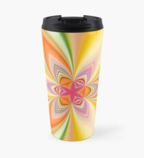 Kaleidoscope Tiny Pink Star Travel Mug