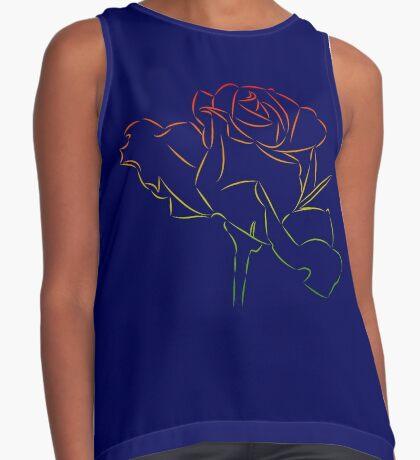 Königin der Blumen - wundervolle Rose, Rosen Kontrast Top