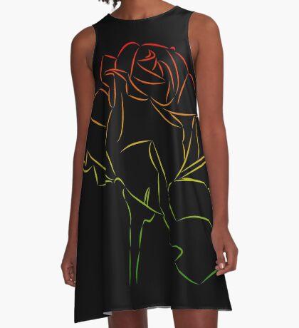 Königin der Blumen - wundervolle Rose, Rosen A-Linien Kleid