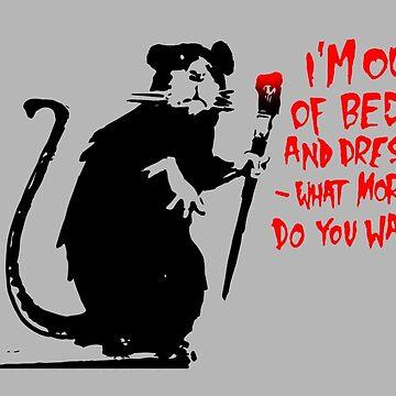 Rat Banksy by DrTigrou