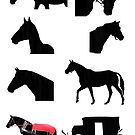 Black silhouette horse clipart ouline images by Epic Splash Creations