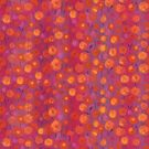 Candy field, pink and orange, floral pattern by clipsocallipso