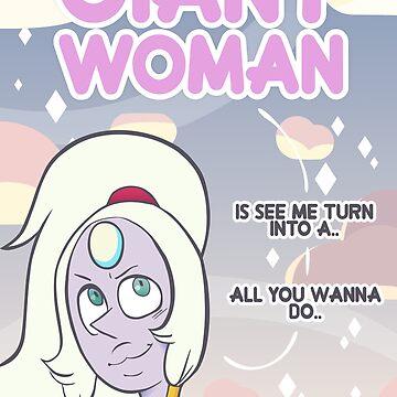 Pearl + Amethyst = Giant Woman! by LeCouleur