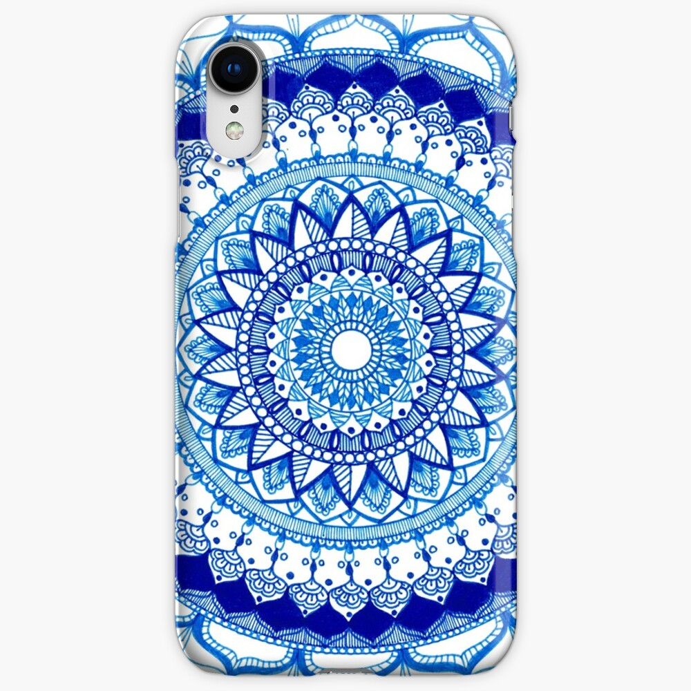 Blue Mandala iPhone Cases & Covers