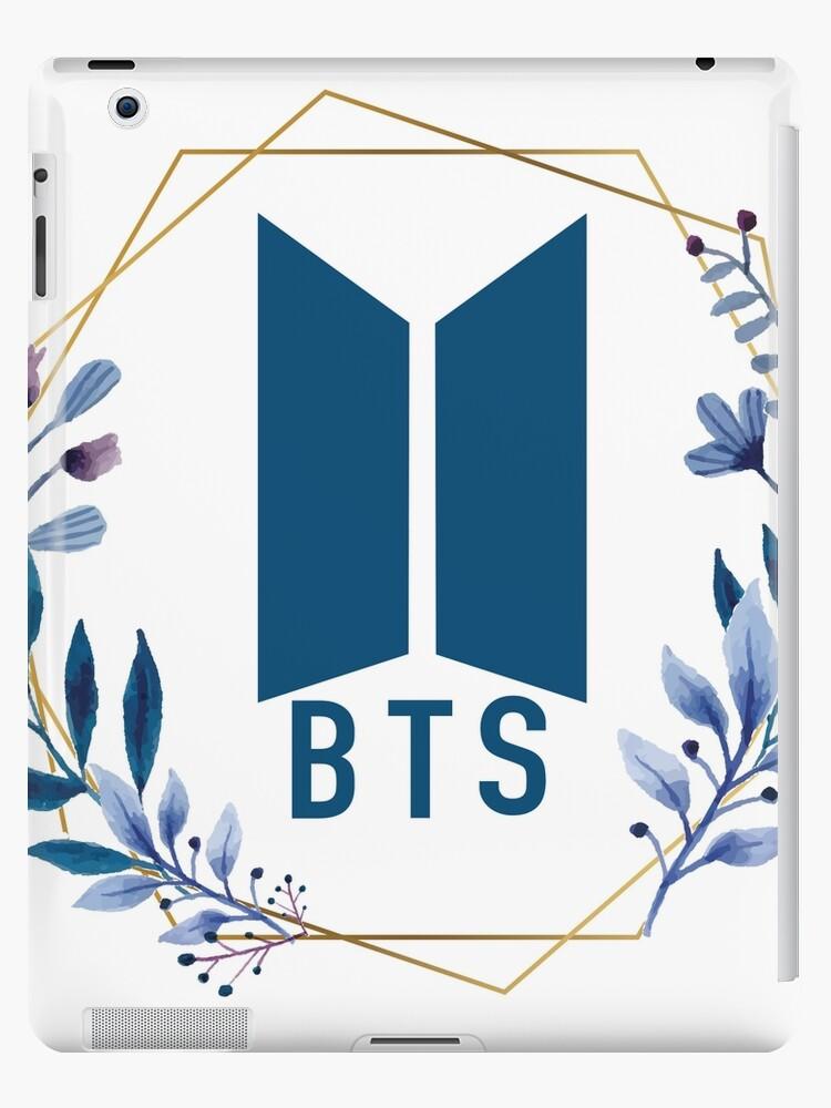 BTS Logo Aquarell Blumenverzierung von M3G4MERCH