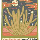 Cactus Tarot Cards- Queen of the Night by doodlebymeg