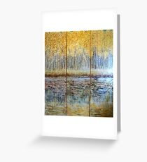 Grow with the Flow -Triptych 7 ft x 6 ft Greeting Card