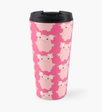 Cute Curious Cartoon Pigs Accessories by Cheerful Madness!! Travel Mug
