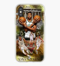 "Vinilo o funda para iPhone Póster de Giannis Antetokounmpo ""Greek Freak"""