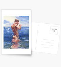 Muskeln rollen, Wellen schlagen Postkarten