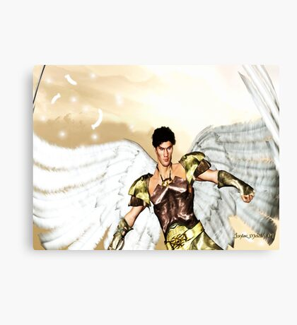 Guardian Angel: Colored Version Canvas Print