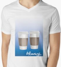 ALWAYS - a Castle celebration (with coffee) Men's V-Neck T-Shirt