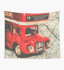 Bus line art Wall Tapestry