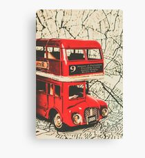 Bus line art Canvas Print