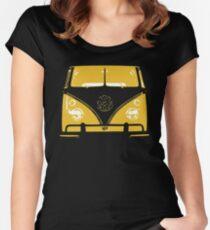 VW Kombi Yellow Design Women's Fitted Scoop T-Shirt