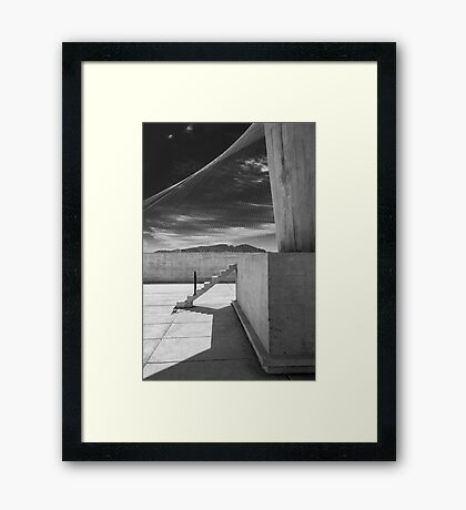 On the roof of Le Corbusier's Unité d'Habitation in Marseille - 4 Framed Print