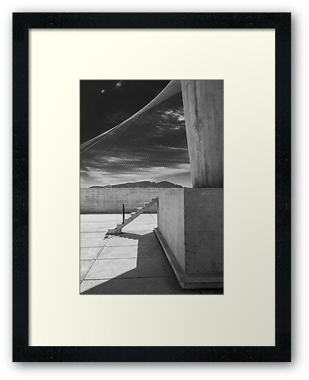 Le Corbusier's Unité d/'habitation Illustrated Art Print Brutalist Architecture.