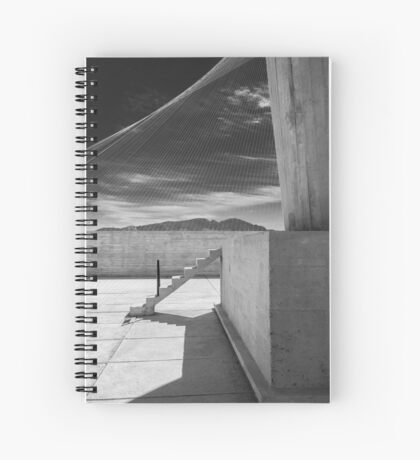 On the roof of Le Corbusier's Unité d'Habitation in Marseille - 4 Spiral Notebook