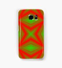 red green line Samsung Galaxy Case/Skin