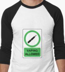 vaping allowed  Men's Baseball ¾ T-Shirt